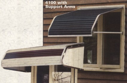 FutureGuard Aluminum Casement Window Awnings.